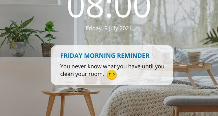 Make it a habit to clean your room weekly or even everyday!